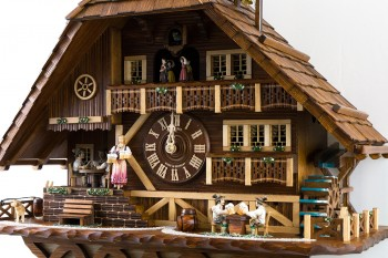 8-day Black Forest chalet with card players, beer drinkers, music and dancers