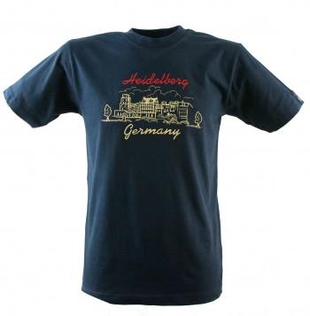 T-Shirt Heidelberger Schloss bestickt