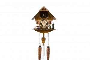 Quartz Black Forest house cuckoo clock with Black Forest couple