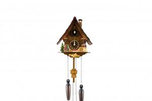 Quartz Black Forest Chalet cuckoo clock with Hänsel und Gretel